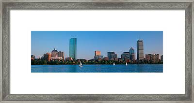 Buildings At The Waterfront, Back Bay Framed Print