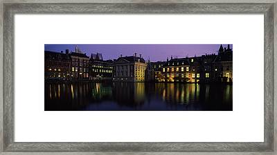 Buildings At The Waterfront, Binnenhof Framed Print