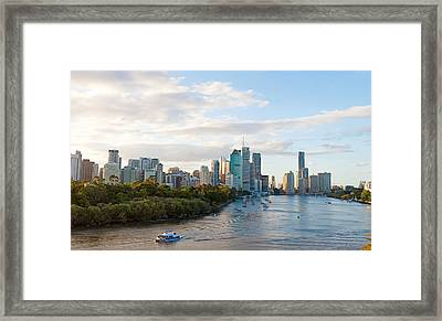 Buildings At The Waterfront, Brisbane Framed Print by Panoramic Images