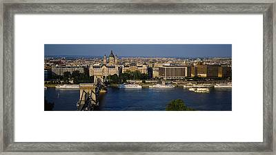 Buildings At The Waterfront, Chain Framed Print by Panoramic Images