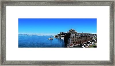 Buildings At The Waterfront, Corfu Framed Print by Panoramic Images