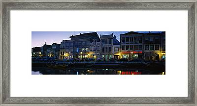 Buildings At The Waterfront, Costa De Framed Print by Panoramic Images