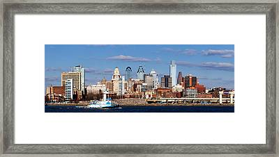 Buildings At The Waterfront, Delaware Framed Print by Panoramic Images