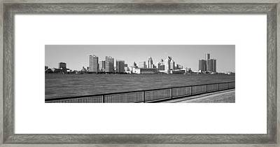 Buildings At The Waterfront, Detroit Framed Print by Panoramic Images