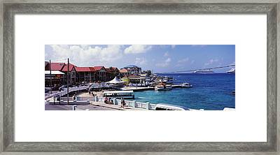 Buildings At The Waterfront, George Framed Print