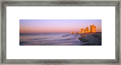 Buildings At The Waterfront, Gulf Framed Print