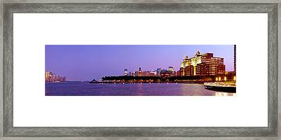 Buildings At The Waterfront, Hoboken Framed Print