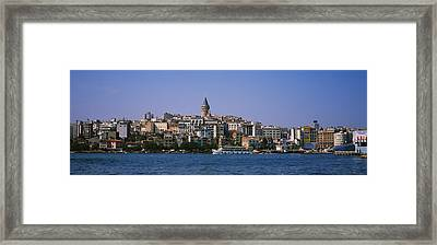 Buildings At The Waterfront, Istanbul Framed Print