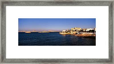 Buildings At The Waterfront, Marseille Framed Print by Panoramic Images