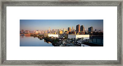 Buildings At The Waterfront, Midtown Framed Print