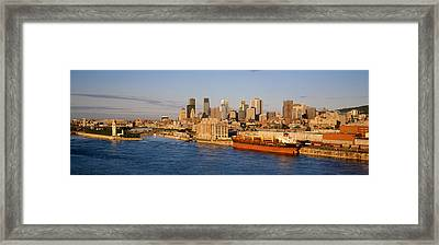 Buildings At The Waterfront, Montreal Framed Print by Panoramic Images