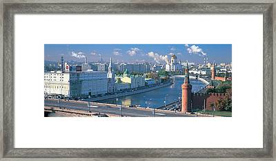 Buildings At The Waterfront, Moskva Framed Print by Panoramic Images