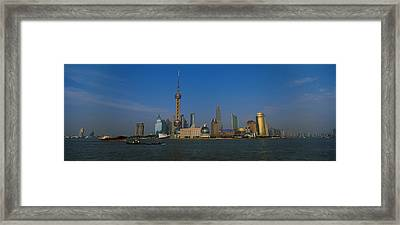 Buildings At The Waterfront, Oriental Framed Print
