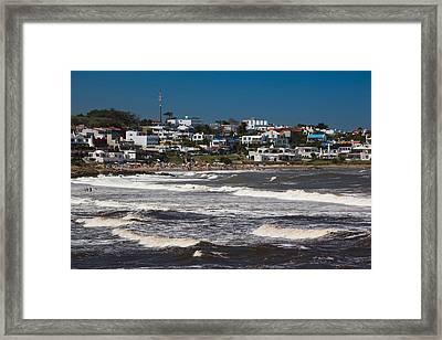 Buildings At The Waterfront, Playa La Framed Print