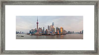Buildings At The Waterfront, Pudong Framed Print