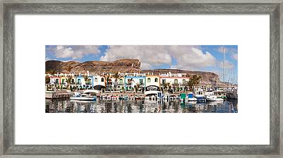 Buildings At The Waterfront, Puerto De Framed Print by Panoramic Images
