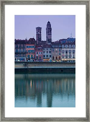 Buildings At The Waterfront, Quai Jean Framed Print by Panoramic Images