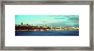 Buildings At The Waterfront, Quebec Framed Print by Panoramic Images
