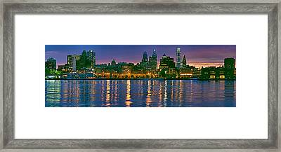 Buildings At The Waterfront, River Framed Print