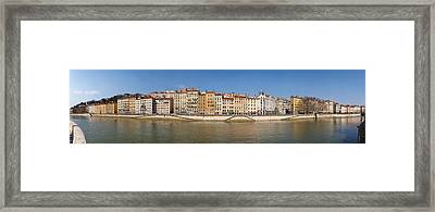 Buildings At The Waterfront, Saone Framed Print