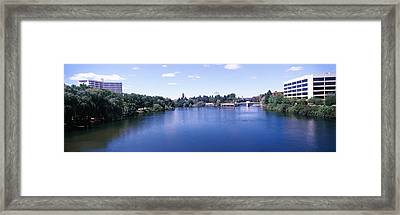 Buildings At The Waterfront, Spokane Framed Print by Panoramic Images