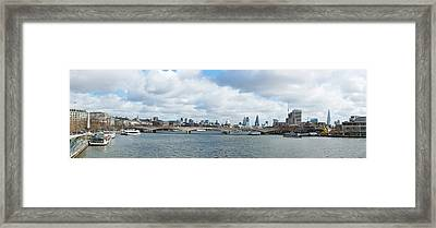 Buildings At The Waterfront, Thames Framed Print