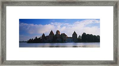 Buildings At The Waterfront, Trakai Framed Print by Panoramic Images