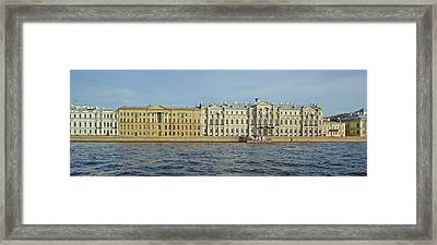 Buildings At The Waterfront, Winter Framed Print by Panoramic Images