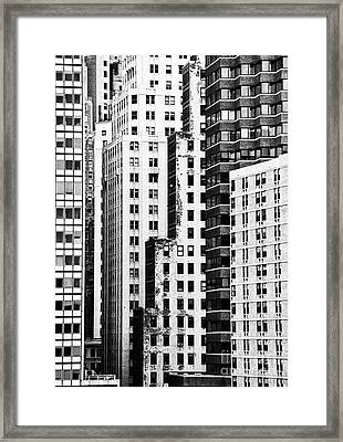 Buildings Bw Framed Print by Bruce Bain