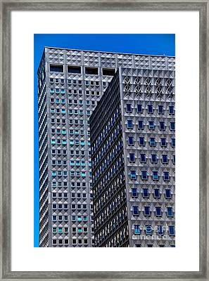 Buildings Downtown Pittsburgh Framed Print by Amy Cicconi
