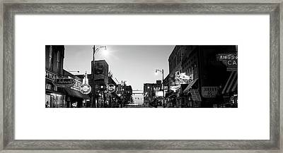 Buildings In A City At Dusk, Beale Framed Print by Panoramic Images