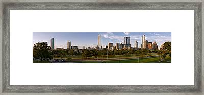 Buildings In A City, Austin, Travis Framed Print by Panoramic Images