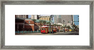 Buildings In A City, Canal Street Framed Print