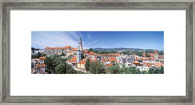 Buildings In A City, Cesky Krumlov Framed Print by Panoramic Images