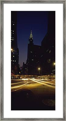 Buildings In A City, Chrysler Building Framed Print by Panoramic Images