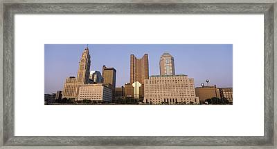 Buildings In A City, Columbus, Franklin Framed Print by Panoramic Images