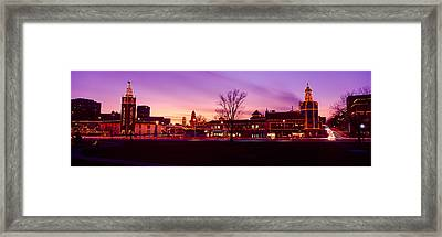 Buildings In A City, Country Club Framed Print by Panoramic Images