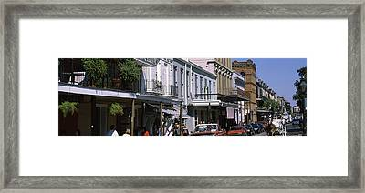 Buildings In A City, French Quarter Framed Print by Panoramic Images