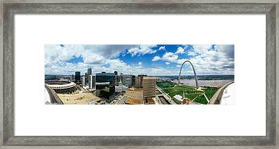 Buildings In A City, Gateway Arch, St Framed Print by Panoramic Images