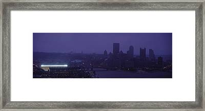 Buildings In A City, Heinz Field, Three Framed Print