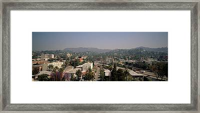 Buildings In A City, Hollywood, City Framed Print by Panoramic Images