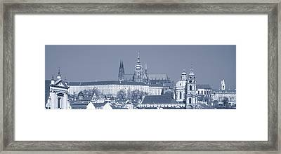 Buildings In A City, Hradcany Castle Framed Print by Panoramic Images