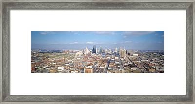 Buildings In A City, Hyatt Regency Framed Print by Panoramic Images