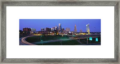 Buildings In A City, Kansas City Framed Print by Panoramic Images