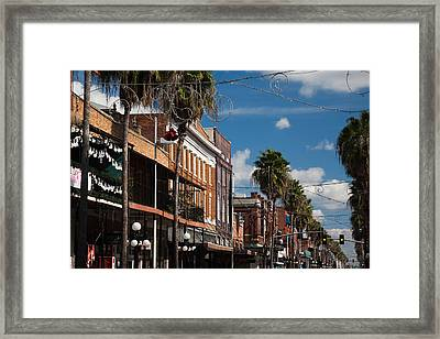 Buildings In A City, La Septima, East Framed Print
