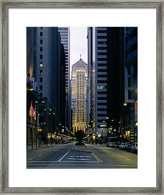 Buildings In A City, Lasalle Street Framed Print