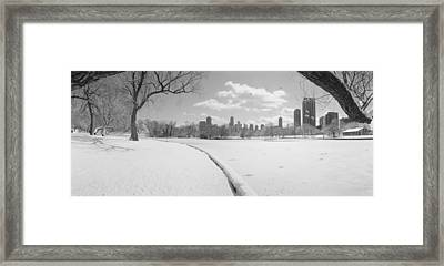 Buildings In A City, Lincoln Park Framed Print