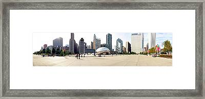 Buildings In A City, Millennium Park Framed Print