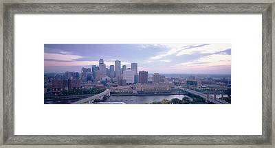 Buildings In A City, Minneapolis Framed Print by Panoramic Images