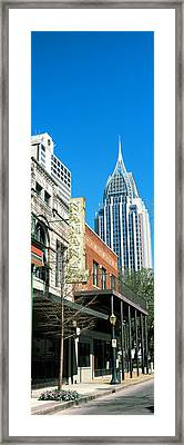 Buildings In A City, Mobile, Alabama Framed Print by Panoramic Images